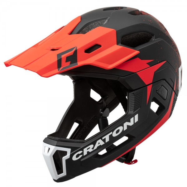 Cratoni C-Maniac 2.0 MX Fullfacehelm Downhill Freeride Kinnbügel
