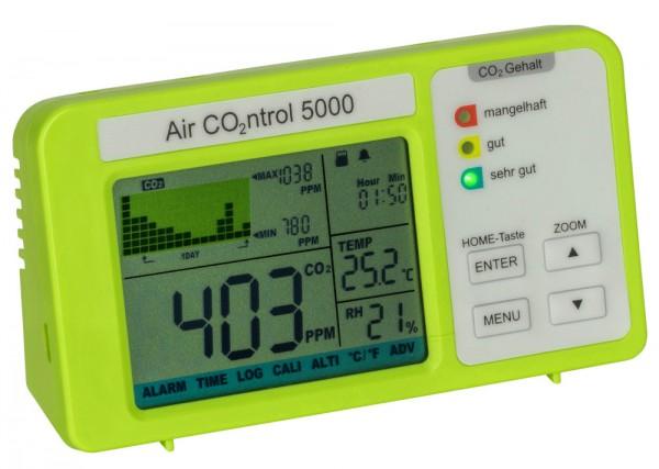 Aircontrol 5000 CO2 Monitor TFA 31.5008 Kohlenstoffdioxid Raumluftüberwachung