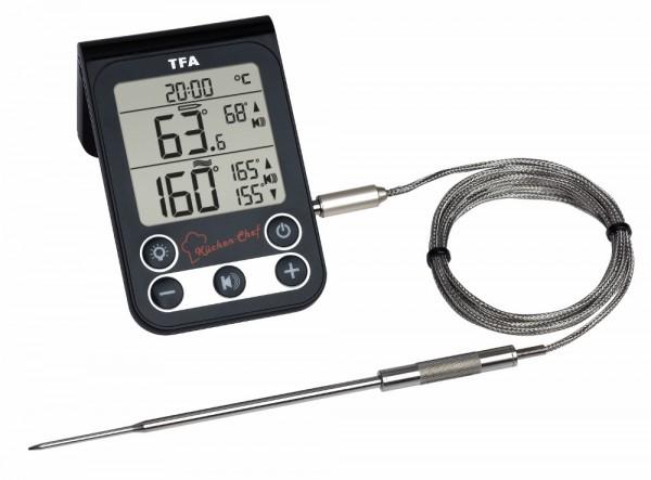 Küchen-Chef TFA 14.1512.01 Digitales Grill-Braten-Ofenthermometer