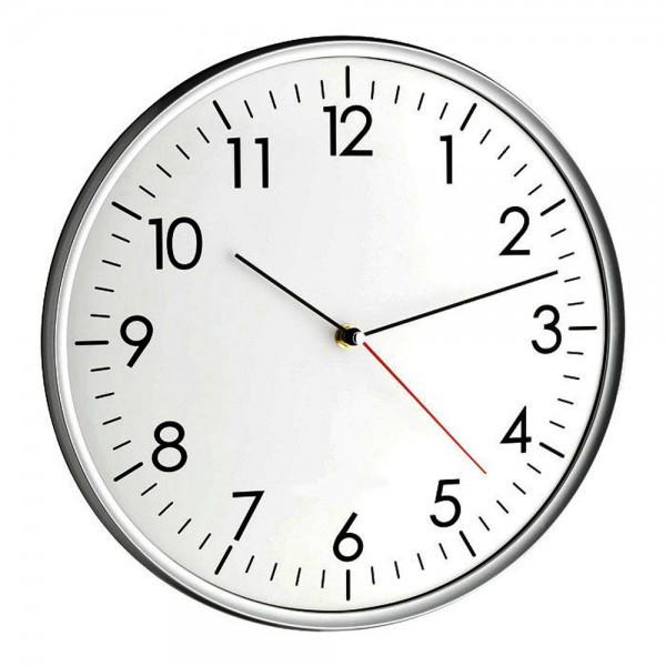Analoge Wanduhr Santana TFA 60.3037.10 Geräuscharmes Uhrwerk Quartz-Uhr 330 mm