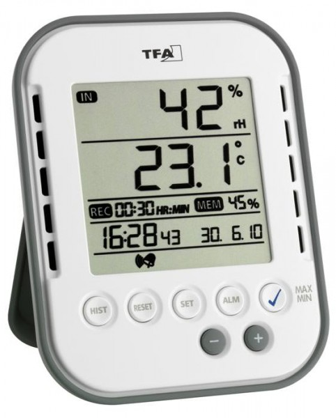 Hygrometer Klimalogg Base 30.5022 mit Speicherfunktion