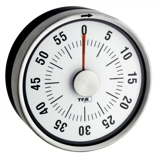 Qualitätstimer mit Edelstahlgehäuse Puck TFA 38.1028