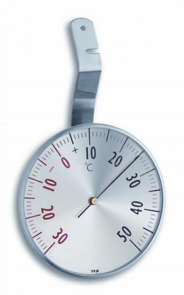 TFA 14.5003 Analoges Fensterthermometer aus Edelstahl