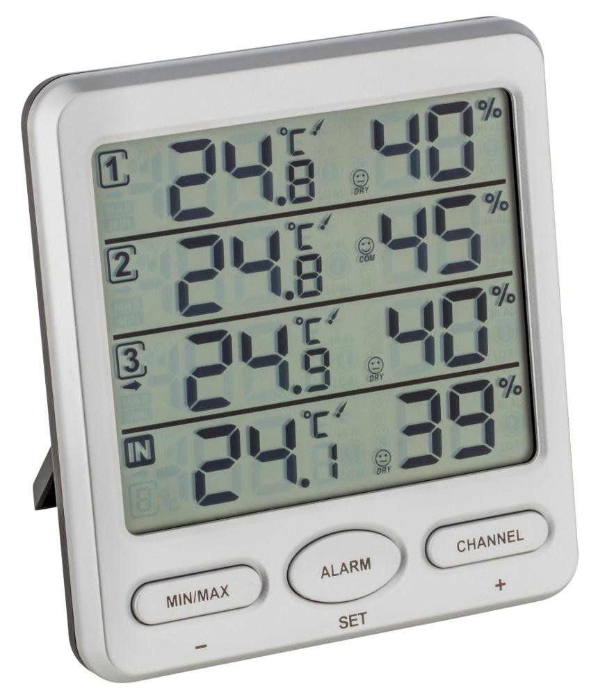 50 ° C ~ 110 ° C Schwarz Temperatur Messgerät Thermometer Hygrometer Analoges