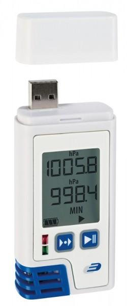 PDF-Datenlogger LOG220 mit Display für Temperatur Luftfeuchte Luftdruck 5005-0220