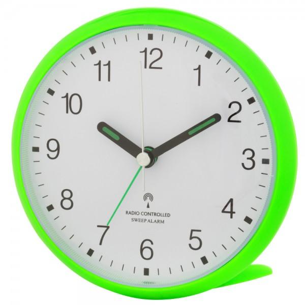 Analoger-Funkwecker mit lautlosem SWEEP-Uhrwerk TFA 60.1506.04 neongrün