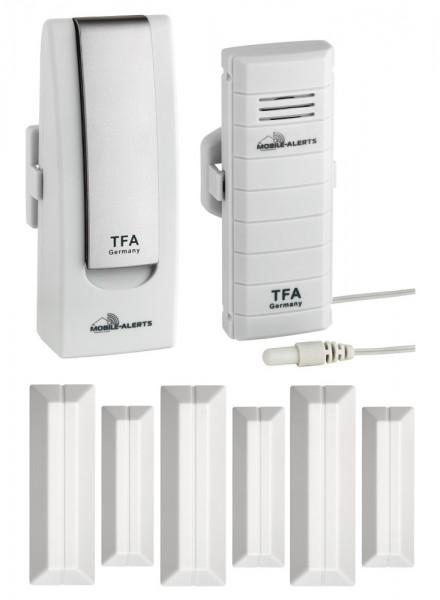 TFA-Dostmann Haus-Überwachungsset TFA 31.4002.02.TF Tür und Fensteralarm Weatherhub