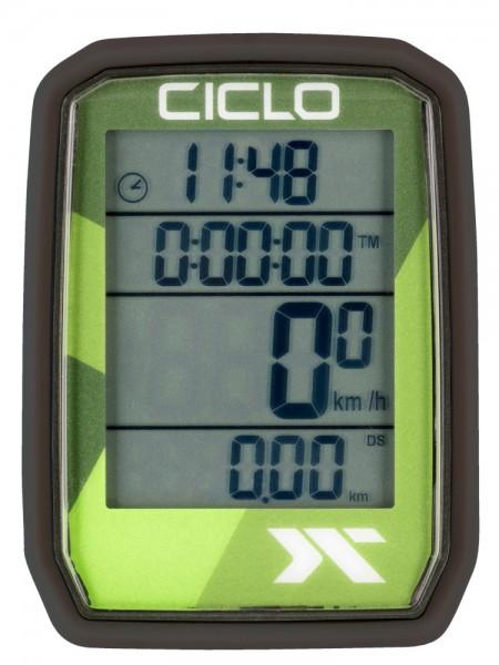 Ciclosport Protos 105 Sonderedition Kabel Fahrradcomputer Fahrradtacho 4 Zeilen Display