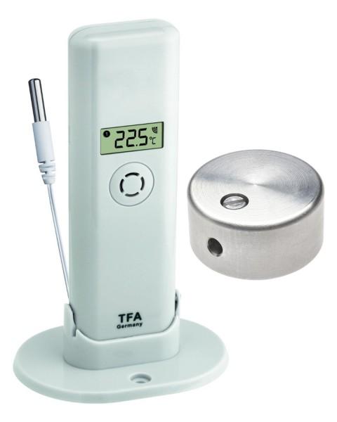 Sparset TFA 30.3313.02.99 Temperatursender mit wasserfestem Kabelfühler und Temperaturbremse