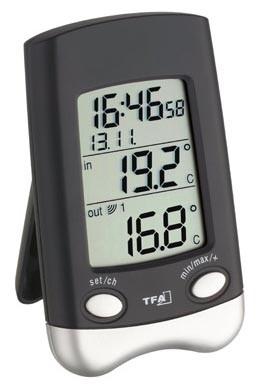 Funkthermometer Wave schwarz TFA 30.3016.01