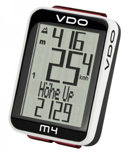 VDO M4 WL Digitaler Funk-Fahrradcomputer mit Höhenmessung