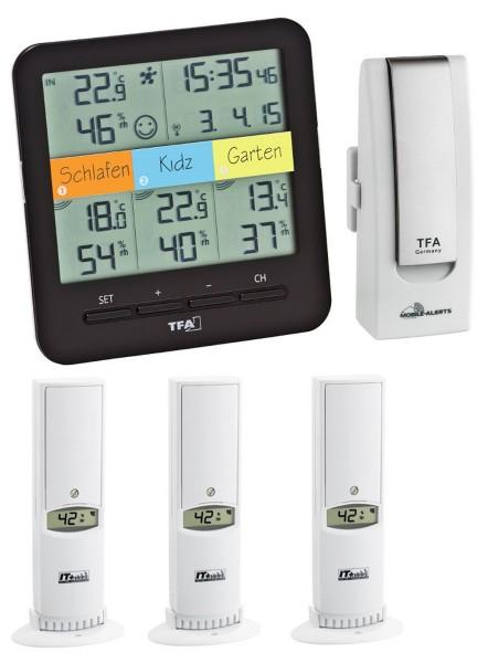 Starterset 7 TFA 31.4007.02 KlimaHome Thermo-Hygro-Station mit 4 Messstellen