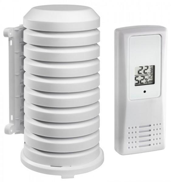 Thermo-Hygrosender TFA 30.3208.02 mit Wetterschutzgehäuse Temperatur Luftfeuchte 433 MHz