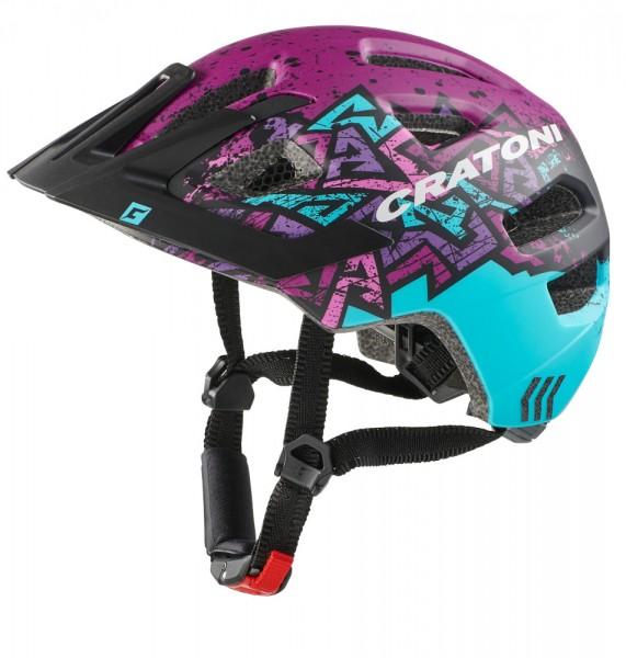 Cratoni Maxster Pro wild S/M Jugendhelm mit Rücklicht Fahrradhelm Kinderhelm