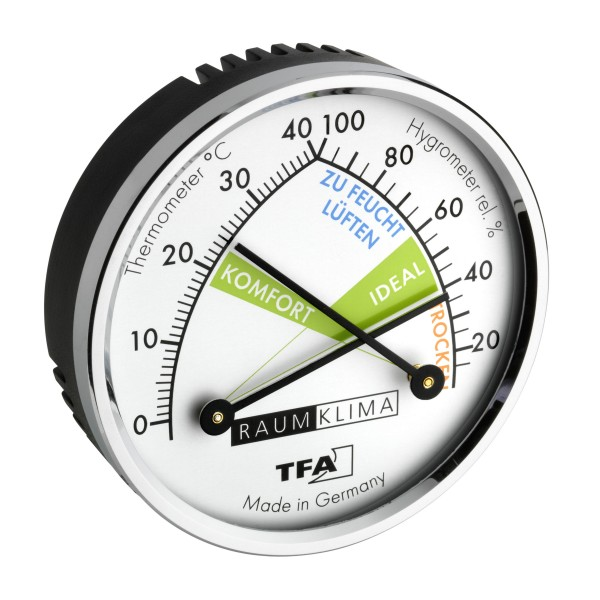 TFA 45.2024 Analoges Thermo-Hygrometer mit Metallring