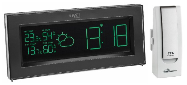 Funk-Wetterstation COLORIS PLUS TFA 35.1147.01.PLUS mit Farbwechsel-Display und WeatherHub Gateway