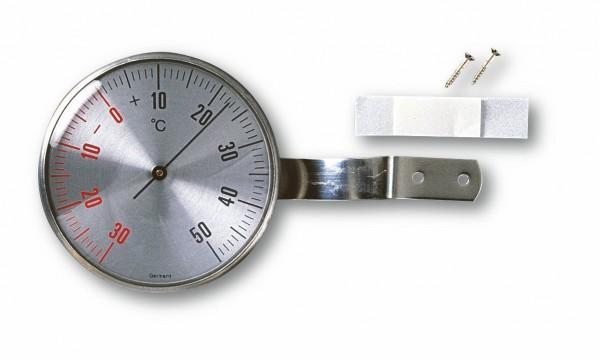 TFA 14.5001 Analoges Fensterthermometer aus Edelstahl