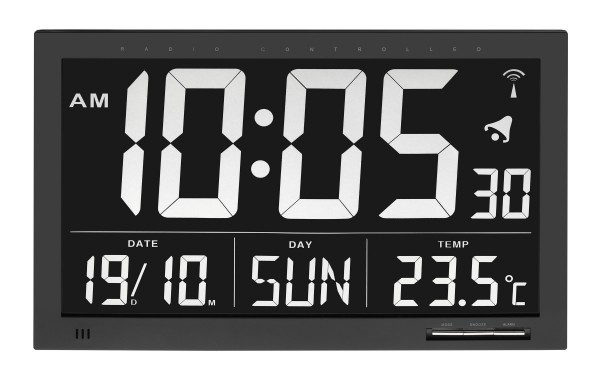 TFA 60.4505 Digitale XL-Funkuhr mit Temperatur VESUV