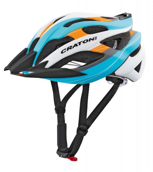 SONDERANGEBOT Cratoni C-Tracer blau-orange-silber Fahrradhelm Mountainbikehelm Skaterhelm