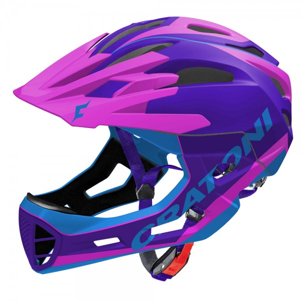 Sonderangebot Cratoni C-Maniac Limited Edition purple-pink L/XL Downhillhelm Fahrradhelm
