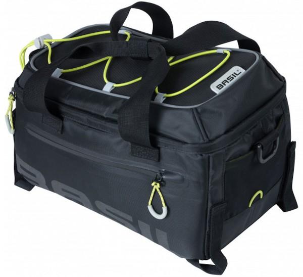 Basil Miles schwarz-neongrün Gepäckträgertasche Fahrradtasche