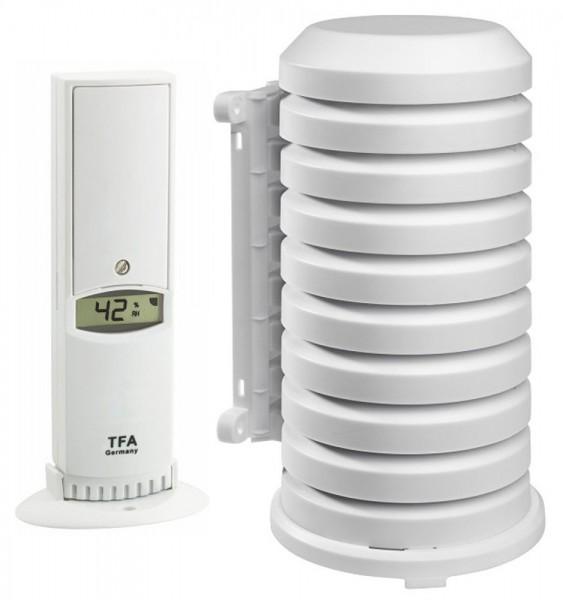 Funk-Sender TFA 30.3180.IT mit Wetterschutzgehäuse 868 MHz Temperatur Luftfeuchte