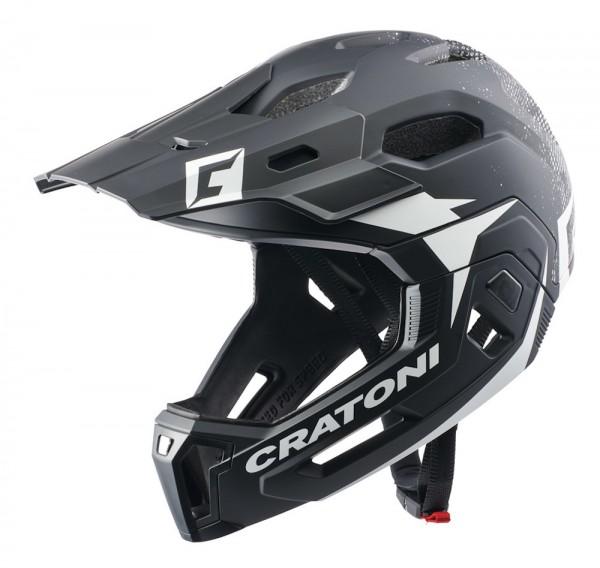Cratoni Sparset C-Maniac 2.0 MX inkl. Brille Dirttrack Fullfacehelm Downhill Freeride Kinnbügel