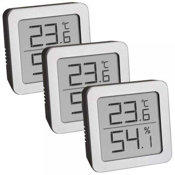 Digitales Thermo-Hygrometer 3 er Set TFA 95.2019.54