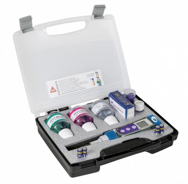 Messgeräte-Set PC 5 zur Messung von pH, Leitwert, Salzgehalt, TDS, mV und °C. Tester Serie 5040-0245