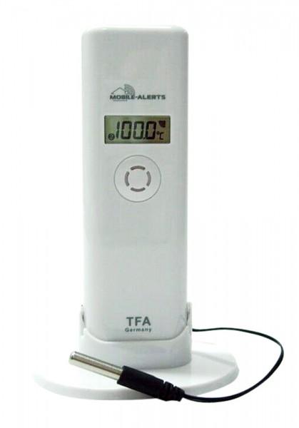 TFA 30.3302.02 Thermo-Hygro-Sender mit wasserfestem Profi-Temperatur-Kabelfühler für Weath