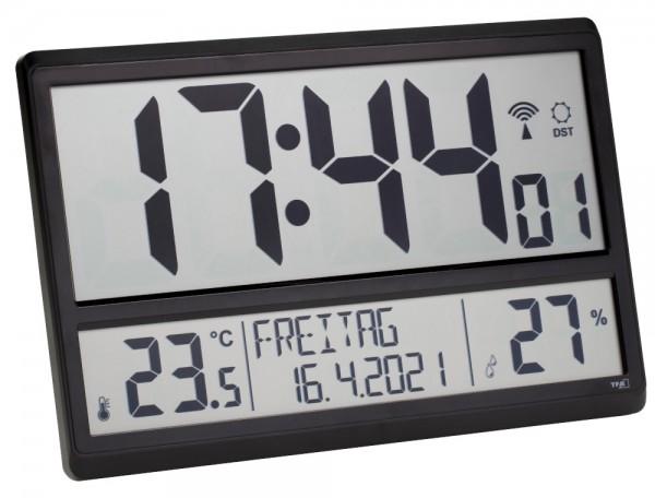 Digitale XL-Funkuhr TFA 60.4520.01 Innentemperatur Datum Wochentag