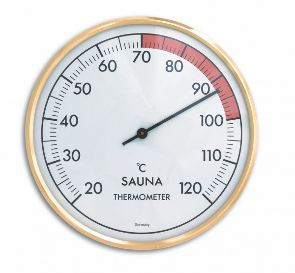 TFA 40.1011 Analoges Sauna-Thermometer mit Metallring
