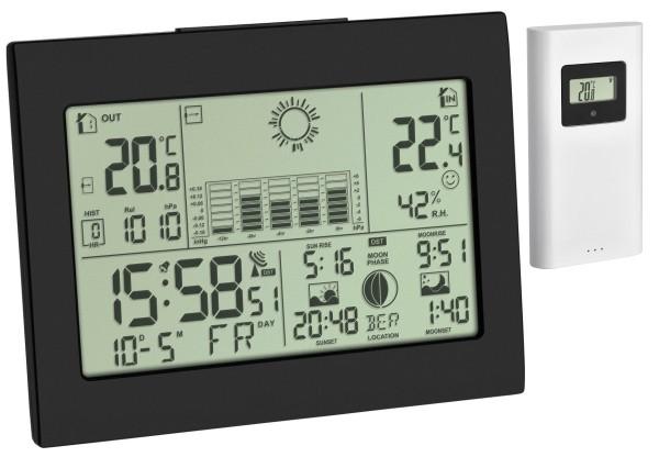 Funk Wetterstation Horizon TFA 35.1155.01 Funkuhr Raumklimakontrolle