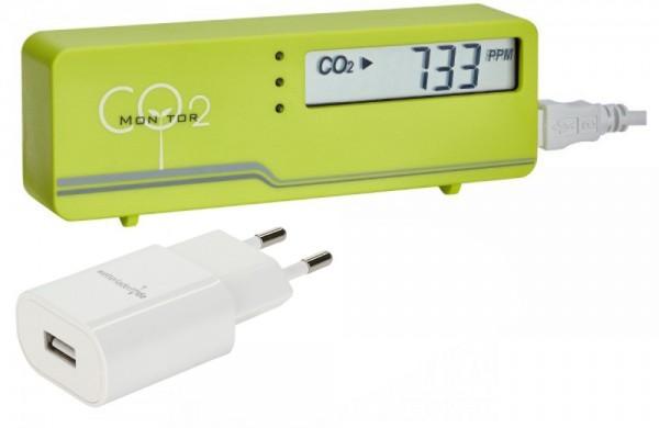 AirControl Mini CO2 Messgerät TFA 31.5006 Plus incl Netzstecker Raumklimakontrolle