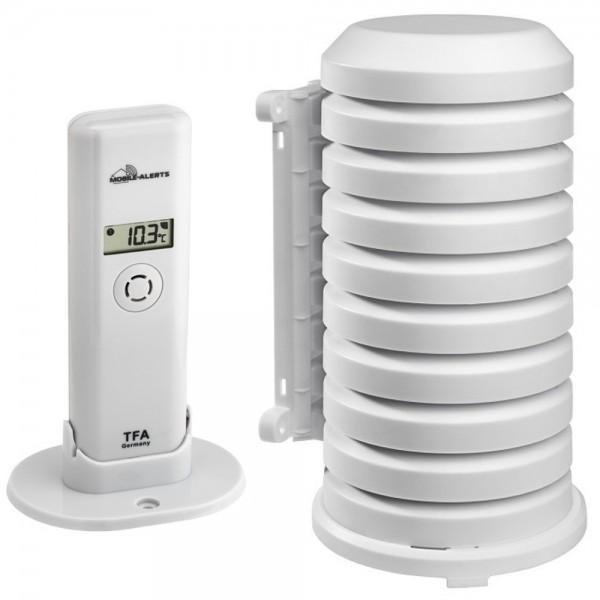 Weatherhub Thermo-Hygrosender TFA 30.3303.02 mit Wetterschutzgehäuse Temperatur Luftfeuchte