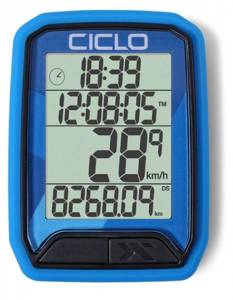 Ciclosport Protos 113 Kabel Fahrradcomputer Fahrradtacho 4 Zeilen Display