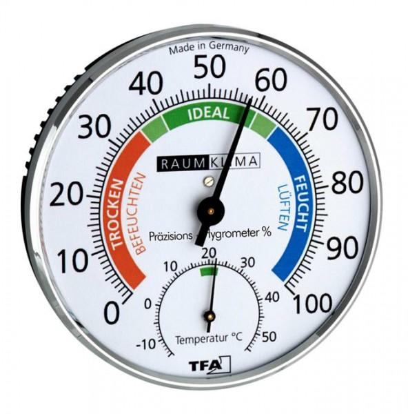 Präzisions-Hygrometer Klimatest chrom TFA Dostmann 45.2030.42