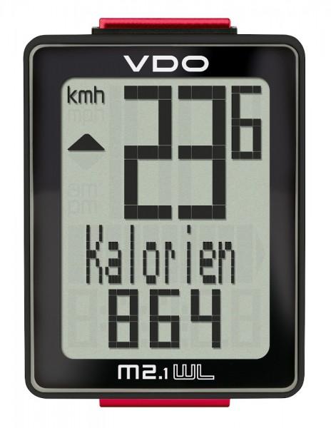 VDO M2.1 WL 30025 Analoger-Funk-Fahrradcomputer Biketacho