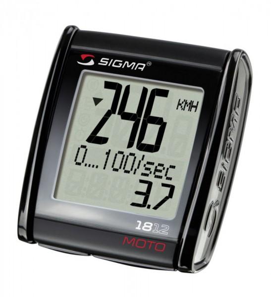 Sigma Motorradtacho MC 1812 Moto Beschleunigungsmessung 399 km/h