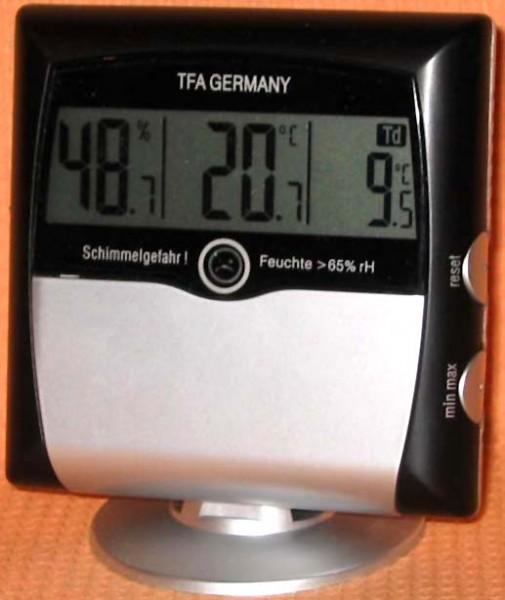 Klima Control-Set Hygrometer-Thermometer TFA 95.2008