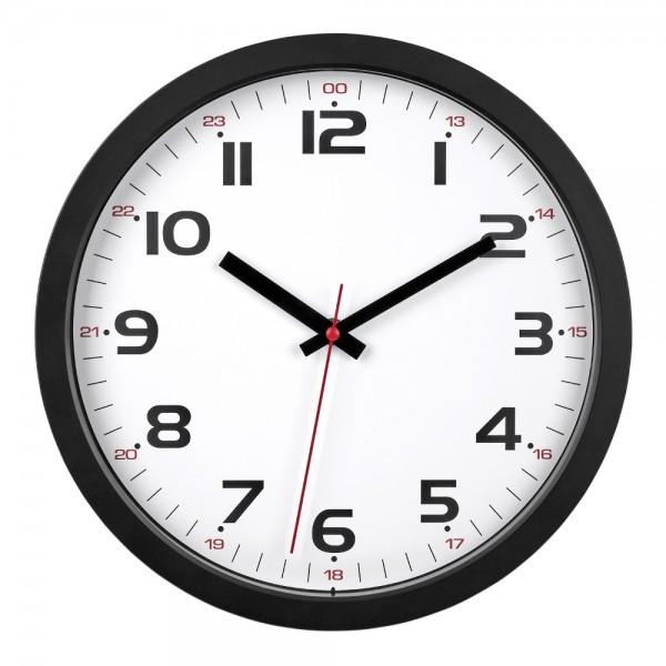 Analoge Wanduhr TFA 60.3050 leises Sweep Uhrwerk Bürouhr Quarzuhr