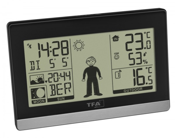 Funk-Wetterstation Weather Boy TFA 35.1159 Funkuhr digital