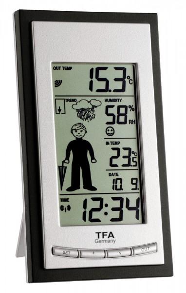 Funk-Wetterstation Weatherboy TFA 35.1084.IT schwarz-silber
