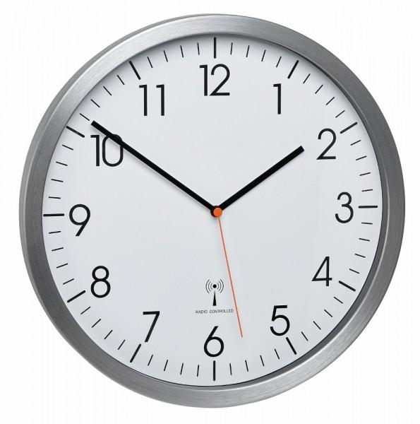 Funk-Wanduhr TFA 60.3527.55 Sweep-Uhrwerk Geräuscharm 305 mm Funkwanduhren