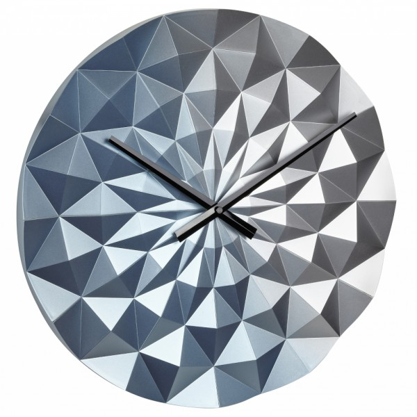 Design Wanduhr Diamond TFA 60.3063 3-D Form Quarzuhr