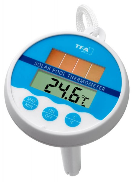 Schwimmbad-Thermometer Digital Solar TFA 30.1041