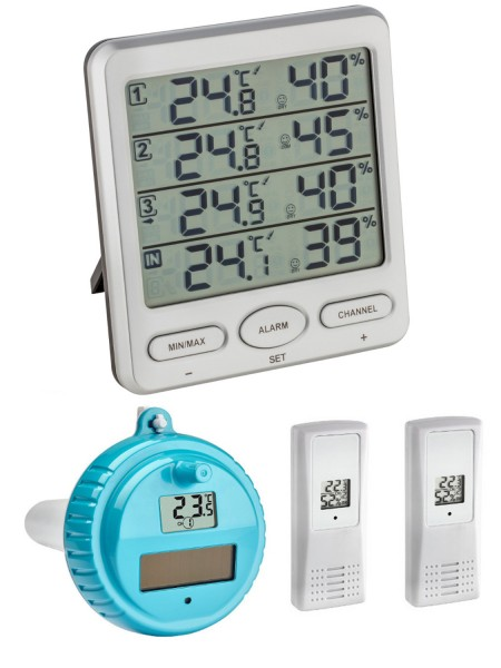 KLIMA-MONITOR-PLUS TFA 30.3054.plus Thermo-Hygrometer Poolsender