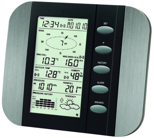 Technoline Wetterstation Vega WS 1600-IT Wind-Regenmesser Wettercenter