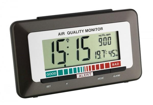 Dicke-Luft-Monito Funk-Wecker mit Luftqualitätsanzeige TFA 60.2527.10