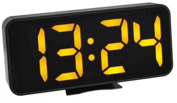TFA 60.2027.01 Digitaler Wecker mit LED-Leuchtziffern 3 Helligkeitsstufen
